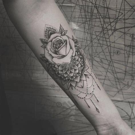 body tattoos mandalarose forearm piece tattooviral