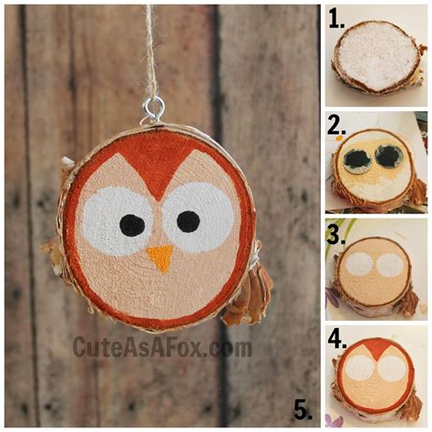 how to make wooden ornaments rustic hand painted woodland creature ornaments