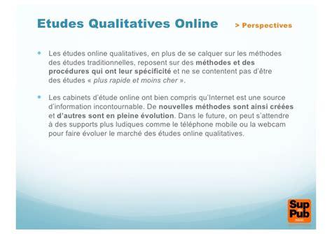 les etudes qualitatives