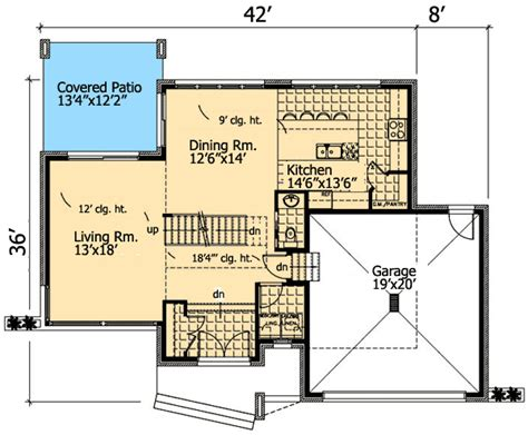 roof deck  contemporary home plan pd