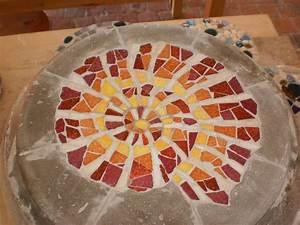 Mosaikbilder Selber Machen : ammonit trittstein aus mosaik und beton f r den garten ~ Whattoseeinmadrid.com Haus und Dekorationen