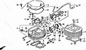 Honda Scooter 1987 Oem Parts Diagram For Cylinder