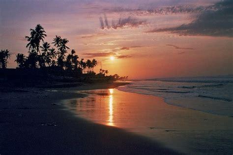 ghana beach sunrise kokrobite beach ghana july