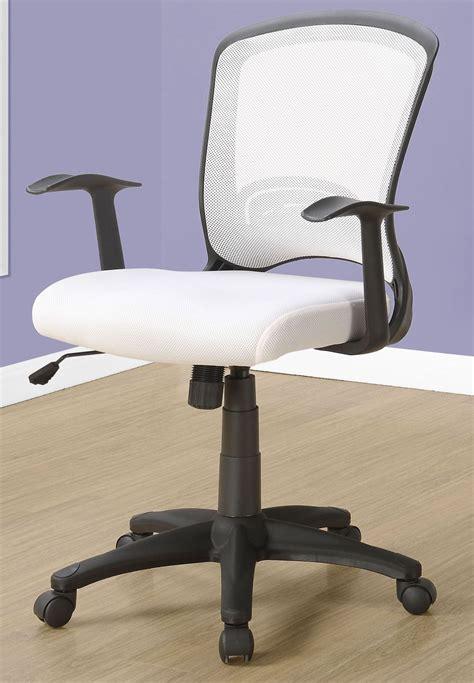 white mesh office chair 7266 monarch