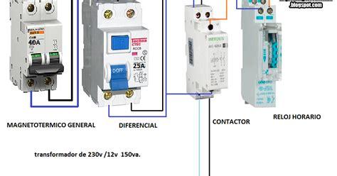 dicroicas trafo 150w reloj horario y contactor esquemas el 233 ctricos