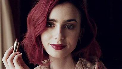 Lily Collins Hair Gifs Lilly Lady Shadowhunters
