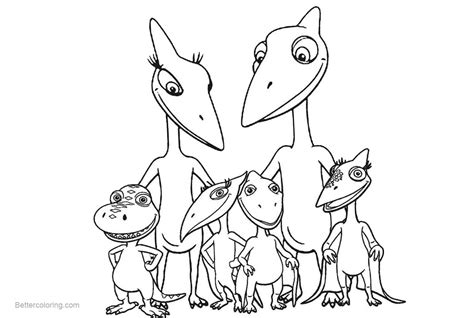 Dinosaur Train Coloring Pages Family