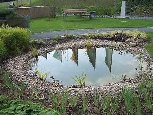 Kleine Gartenteiche Beispiele : runder teich im garten authentisch gestaltet ~ Whattoseeinmadrid.com Haus und Dekorationen