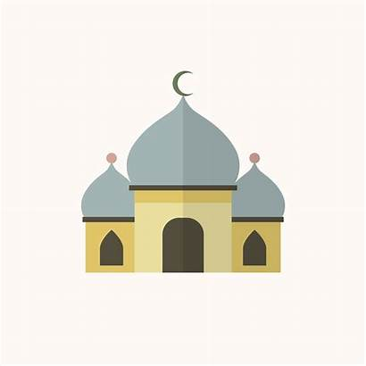 Mosque Vector Illustration Islamic Clipart Worship Places