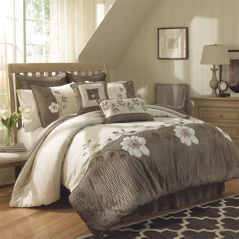 cal king bedding sets gray bedding set with white floral pattern placed on
