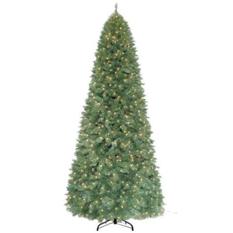 home accents holiday 12 ft pre lit morgan pine quick set