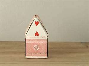 paper craft - folded decorative playing card house - full ...