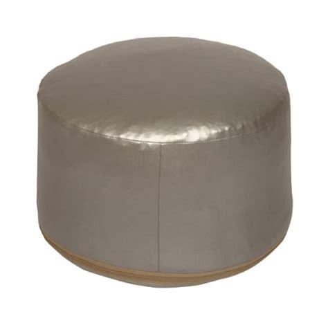 Sitzkissen Leder Sitzwürfel Pouf Hocker Bodenkissen Silber