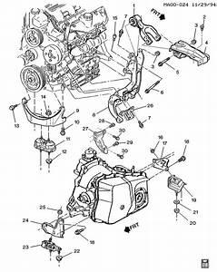 1995 Century 3 1 Liter Engine Upper Motor Mount