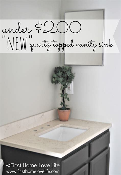 bathroom vanity  quartz counter  home love life