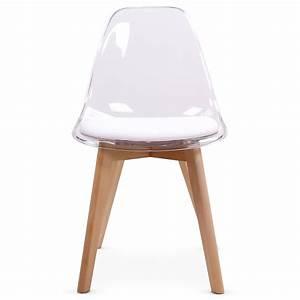 Chaise Design Blanche : chaise design blanche plexi et bois chaise design ~ Teatrodelosmanantiales.com Idées de Décoration