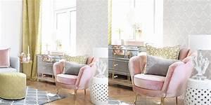 Wohnzimmer Grau Rosa : wohnzimmer in strahlendem gelb rosa instashop ~ Orissabook.com Haus und Dekorationen