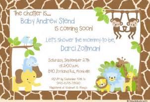 Ideas Para Invitaciones De Baby Shower by Invitaciones Para Baby Shower Safari Tarjetas Para Baby