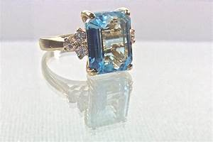 blue topaz vintage engagement ring onewedcom With blue topaz wedding rings