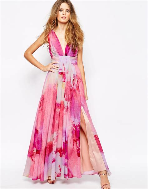 lyst fame partners valencia pleated maxi dress