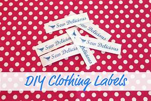 diy clothing labels tutorial sew delicious With diy school labels