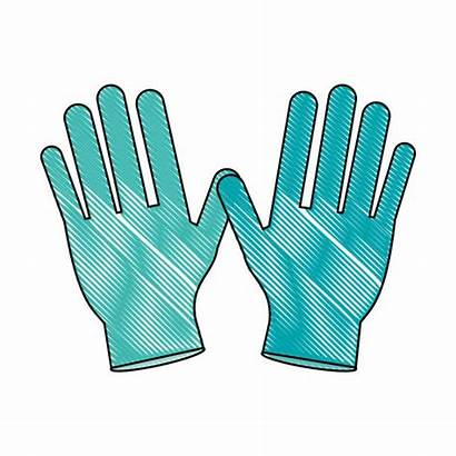 Vector Gloves Latex Clip Medical Illustrations Similar