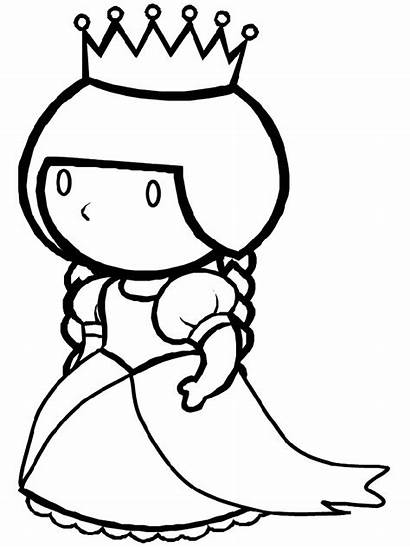 Queen Coloring King Pages Clipart