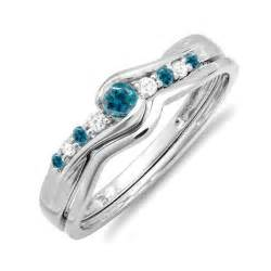 silver wedding ring sets affordable 1 2 carat sapphire and wedding ring set for in silver jewelocean