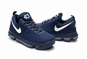 Nike KD 9 Dark Blue/White Basketball Shoes | Jordans 2017