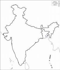 India map outline - India outline map (Southern Asia - Asia)
