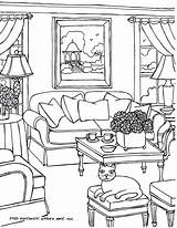 Coloring Pages Drawing Opera Sydney Rooms Perspective Adults Adult Colouring Living Interior Furniture Drawings Books Then Printable Fred Gonsowski Getdrawings sketch template