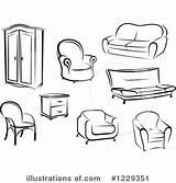 Furniture Clipart Clip Illustration Royalty Vector Similar Tradition Sm Rf Illustrationsof sketch template