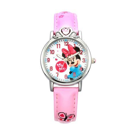 jual disney ms14062 p minnie jam tangan anak perempuan pink harga kualitas terjamin