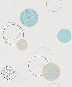 Tapete Blau Muster : tapete vlies kreise blau beige rasch planet 475913 1 87 1qm ebay ~ Orissabook.com Haus und Dekorationen