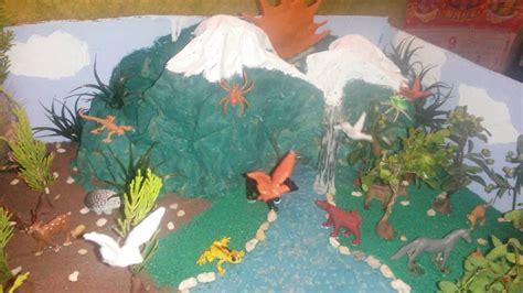 Maqueta de ecosistema de bosque: TITAN YouTube