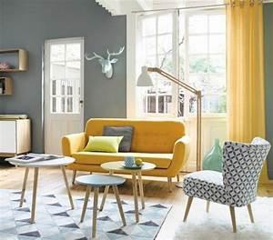 Décoration Salon Jaune Moutarde : table basse scandinave jaune moutarde maison ~ Melissatoandfro.com Idées de Décoration