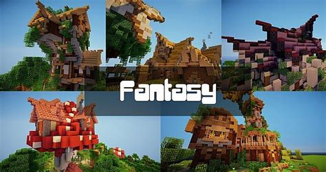 Fantasy House Pack  5 Houses 32x32blocks Minecraft Project