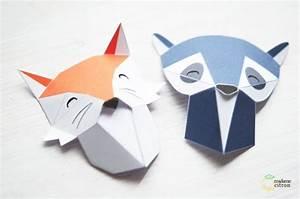 Trophée Animaux Origami : diy tutoriel troph e animaux en origami madame citron blog de deco chambre enfants ~ Teatrodelosmanantiales.com Idées de Décoration