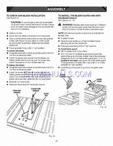 Owner U0026 39 S Manual For Table Saws Craftsman Evolv 15 Amp 10 In