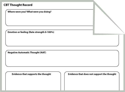 Cbt Thought Record Worksheet (portrait Orientation)  Words  Pinterest  Thoughts, Portrait And