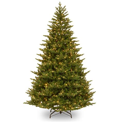 8ft pre lit preston fir feel real artificial christmas