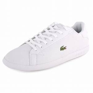 Lacoste Graduate At Mens Trainers Leather White New Shoes ...