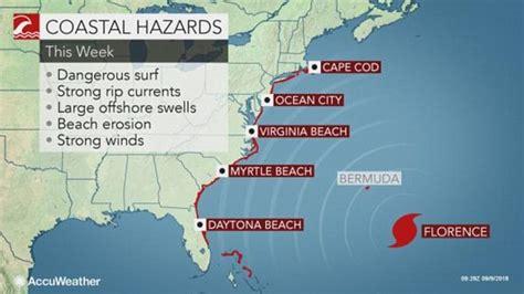 tropical storm florence intensifies  hurricane