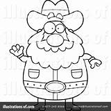 Prospector Coloring Cartoon Template Sketch Line sketch template