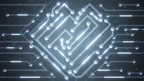 Silver Circuit Board Electronic Tech Beautiful Chip