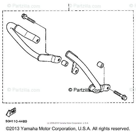 Yamaha Motorcycle Oem Parts Diagram For Engine Guard