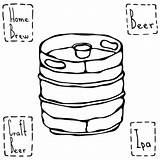 Keg Drawing Beer Barrel Metal Coloring Illustration Sketch Vector Getdrawings Depositphotos sketch template