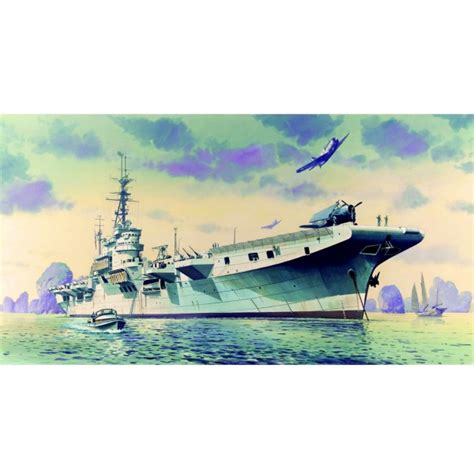maquette bateau porte avions arromanches hms colossus jeux et jouets heller avenue des jeux