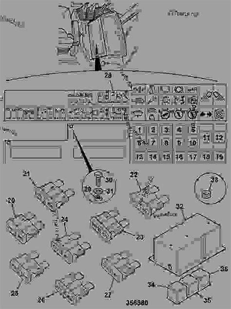 fuse box relays shuttle transmission construction jcb