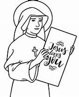 Coloring Pages Christian Nun Topcoloringpages Sheet sketch template